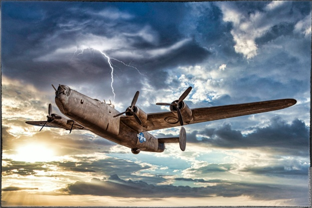 Consolidated B-24 Liberator — Luminar Ai, Sky Replacement and Sky Enhancement (the lightning).