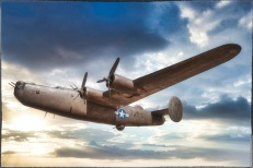 Consolidated B-24 Liberator — processed and border added in Nik's Color Efex Pro 4