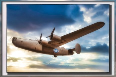Consolidated B-24 Liberator — used Topaz Studio 1.0 to add a digital frame