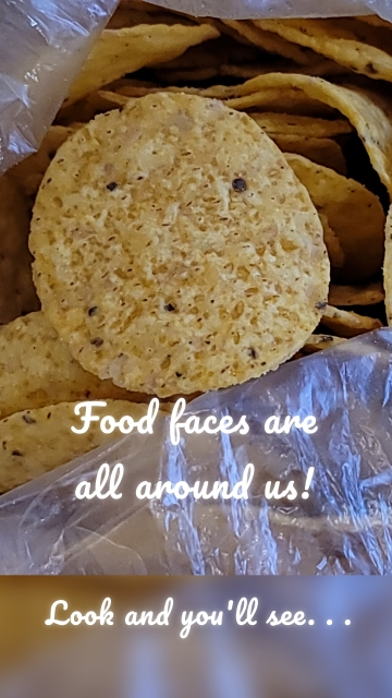 Food faces are all around us! Look and you'll see. . .